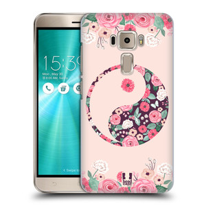 Plastové pouzdro na mobil Asus ZenFone 3 ZE520KL HEAD CASE Yin a Yang Floral