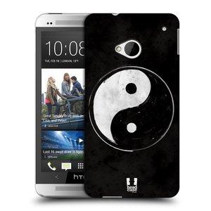 Plastové pouzdro na mobil HTC ONE M7 HEAD CASE Yin a Yang  BW