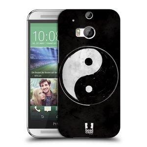 Plastové pouzdro na mobil HTC ONE M8 HEAD CASE Yin a Yang  BW
