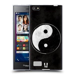 Silikonové pouzdro na mobil Blackberry Leap HEAD CASE YIn a Yang  BW
