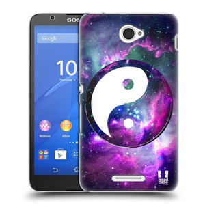 Plastové pouzdro na mobil Sony Xperia E4 E2105 HEAD CASE Yin a Yang PURPLE