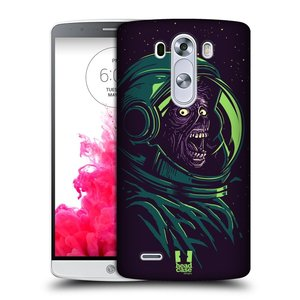 Plastové pouzdro na mobil LG G3 HEAD CASE ZOMBIE VESMÍR