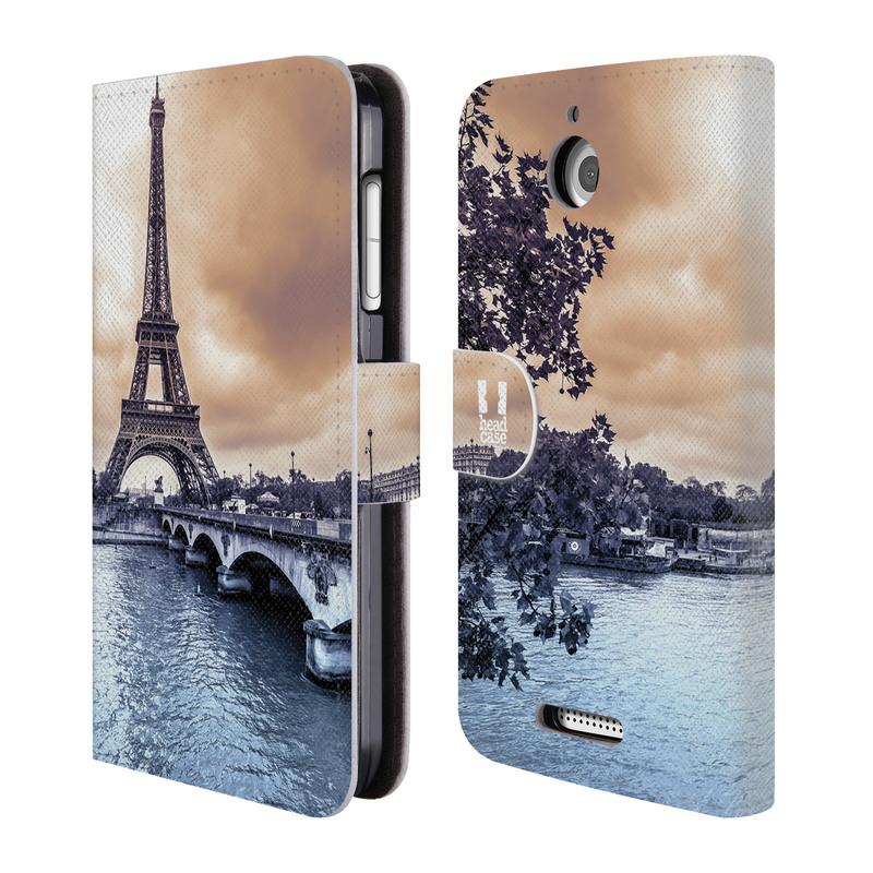 Flipové pouzdro na mobil HTC Desire 510 HEAD CASE Paříž (Flipový vyklápěcí kryt či obal z umělé kůže na mobilní telefon HTC Desire 510)