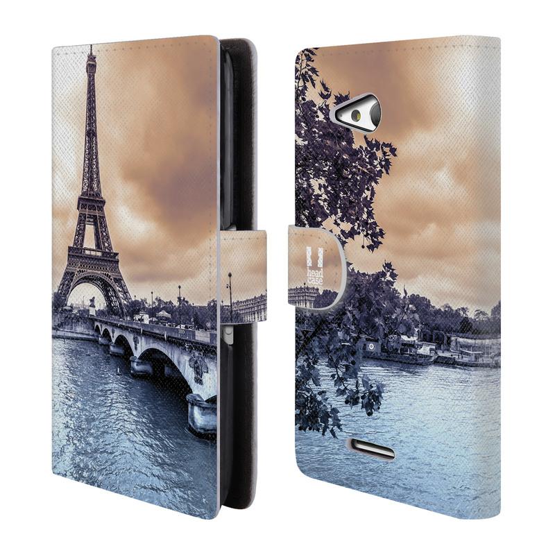 Flipové pouzdro na mobil Sony Xperia E4g HEAD CASE Paříž (Flipový vyklápěcí kryt či obal z umělé kůže na mobilní telefon Sony Xperia E4G E2003)
