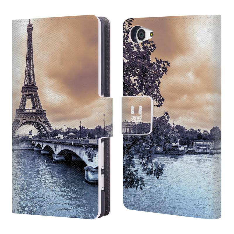 Flipové pouzdro na mobil Sony Xperia Z5 Compact HEAD CASE Paříž (Flipový vyklápěcí kryt či obal z umělé kůže na mobilní telefon Sony Xperia Z5 Compact E5823)