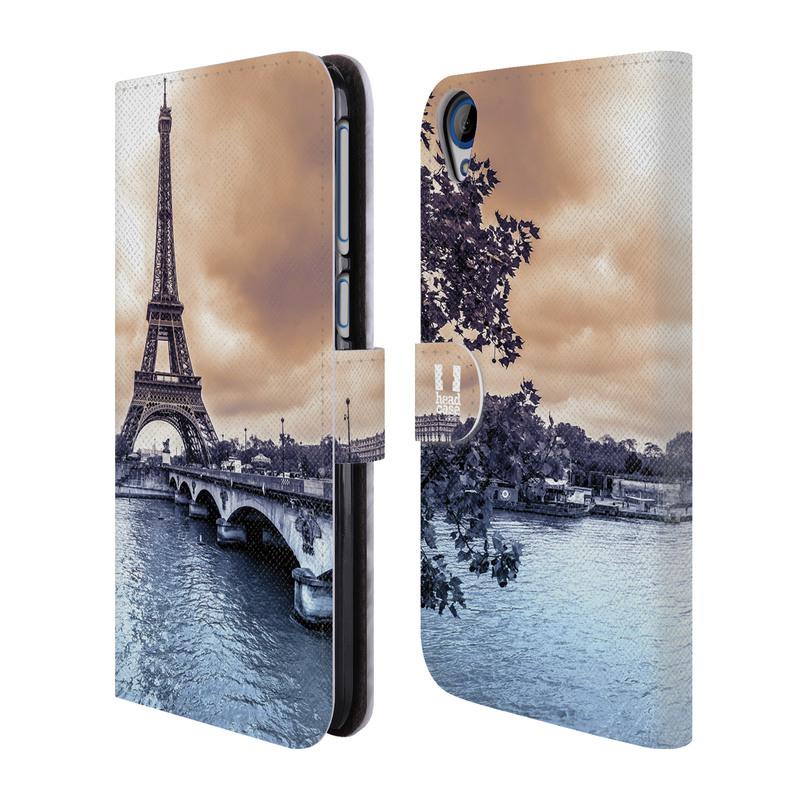 Flipové pouzdro na mobil HTC Desire 820 HEAD CASE Paříž (Flipový vyklápěcí kryt či obal z umělé kůže na mobilní telefon HTC Desire 820)