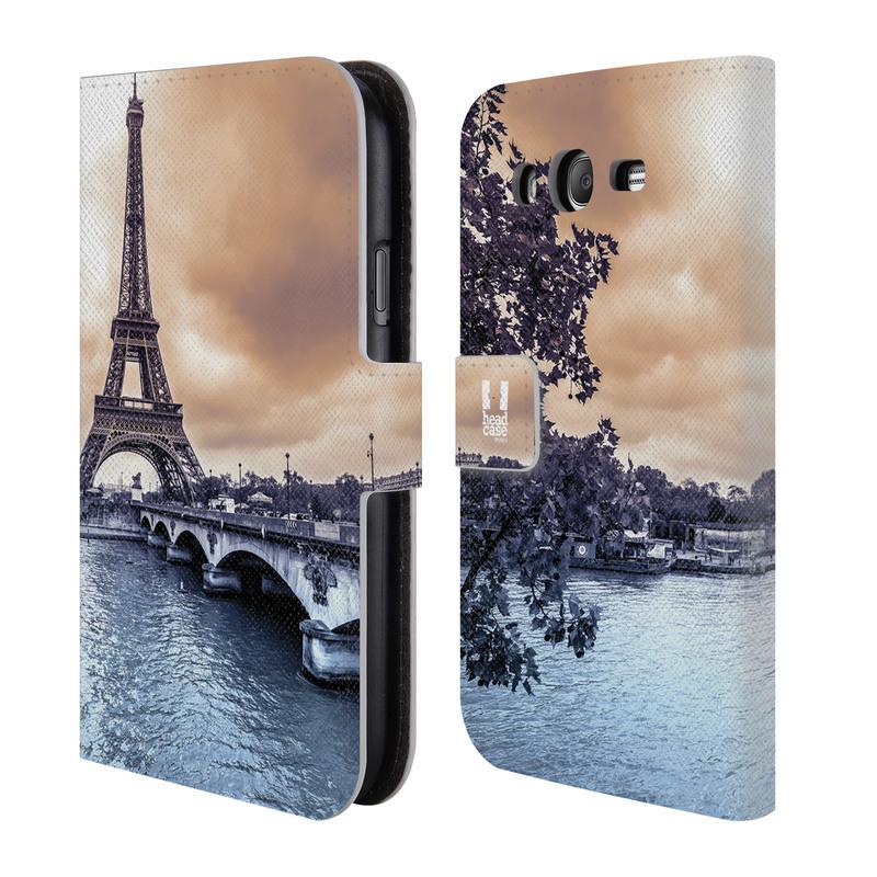 Flipové pouzdro na mobil Samsung Galaxy Grand Neo Plus HEAD CASE Paříž (Flipový vyklápěcí kryt či obal z umělé kůže na mobilní telefon Samsung Galaxy Grand Neo Plus Duos GT-I9060I)