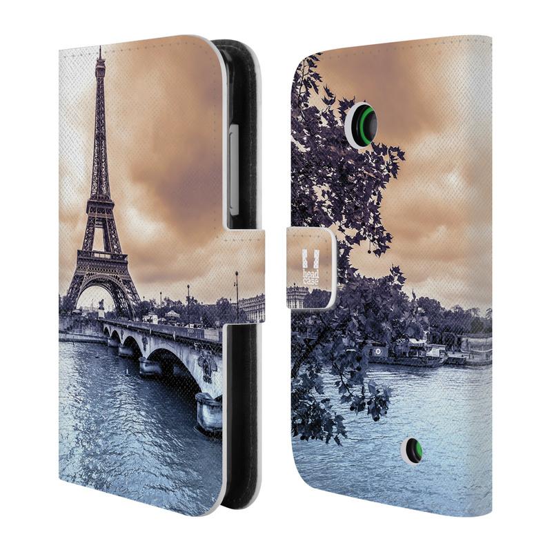 Flipové pouzdro na mobil Nokia Lumia 630 HEAD CASE Paříž (Flipový vyklápěcí kryt či obal z umělé kůže na mobilní telefon Nokia Lumia 630)