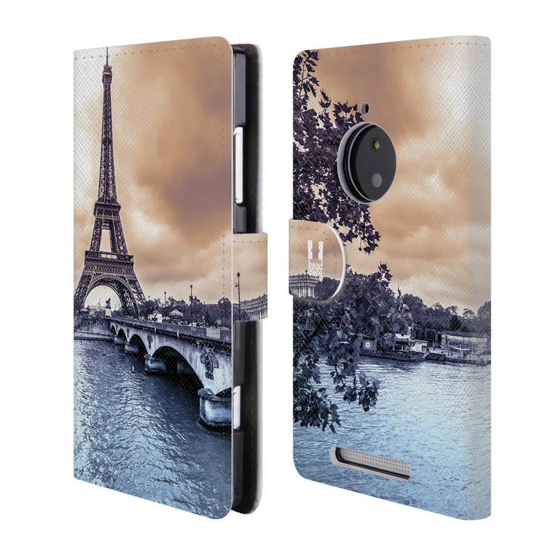 Flipové pouzdro na mobil Nokia Lumia 830 HEAD CASE Paříž (Flipový vyklápěcí kryt či obal z umělé kůže na mobilní telefon Nokia Lumia 830)