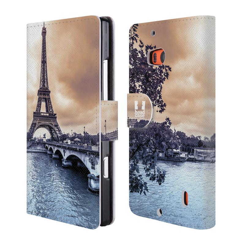 Flipové pouzdro na mobil Nokia Lumia 930 HEAD CASE Paříž (Flipový vyklápěcí kryt či obal z umělé kůže na mobilní telefon Nokia Lumia 930)