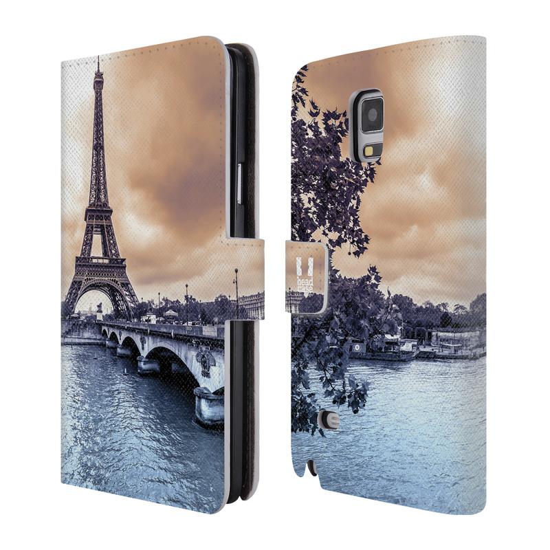 Flipové pouzdro na mobil Samsung Galaxy Note 4 HEAD CASE Paříž (Flipový vyklápěcí kryt či obal z umělé kůže na mobilní telefon Samsung Galaxy Note 4 SM-N910)