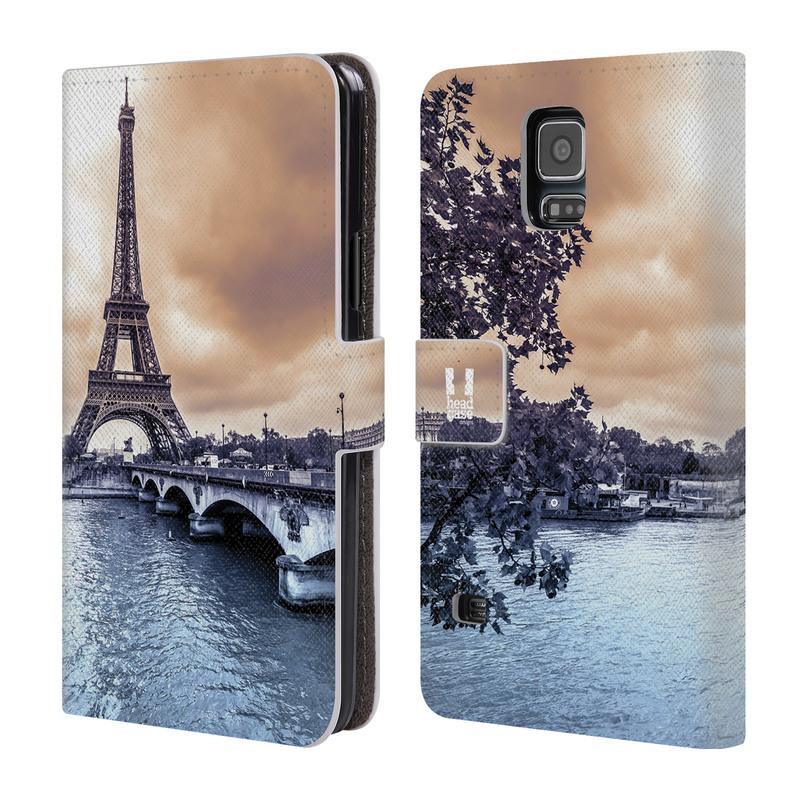 Flipové pouzdro na mobil Samsung Galaxy S5 HEAD CASE Paříž (Flipový vyklápěcí kryt či obal z umělé kůže na mobilní telefon Samsung Galaxy S5 SM-G900)