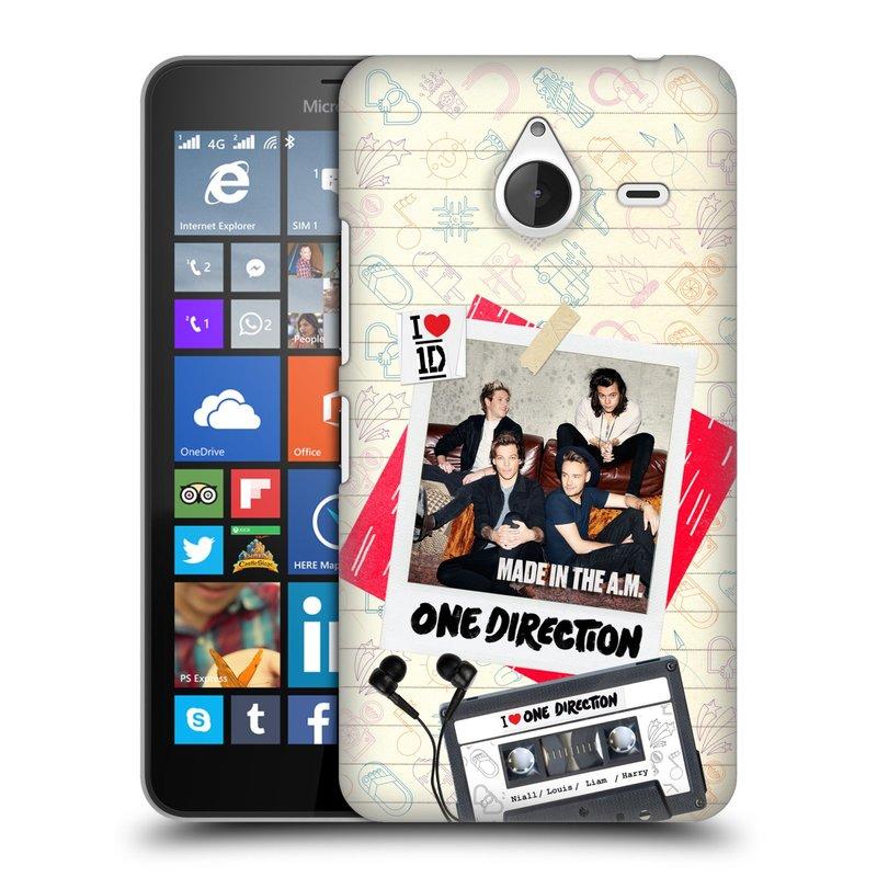 Plastové pouzdro na mobil Microsoft Lumia 640 XL HEAD CASE One Direction - Kazeta (Kryt či obal One Direction Official na mobilní telefon Microsoft Lumia 640 XL)