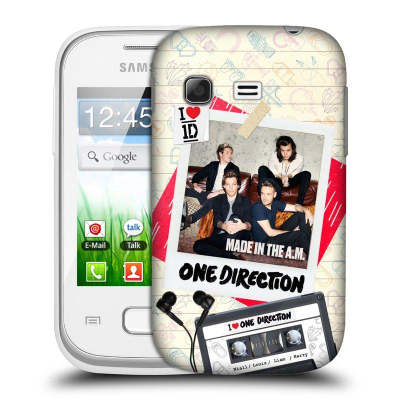 Plastové pouzdro na mobil Samsung Galaxy Pocket HEAD CASE One Direction - Kazeta (Kryt či obal One Direction Official na mobilní telefon Samsung Galaxy Pocket GT-S5300)