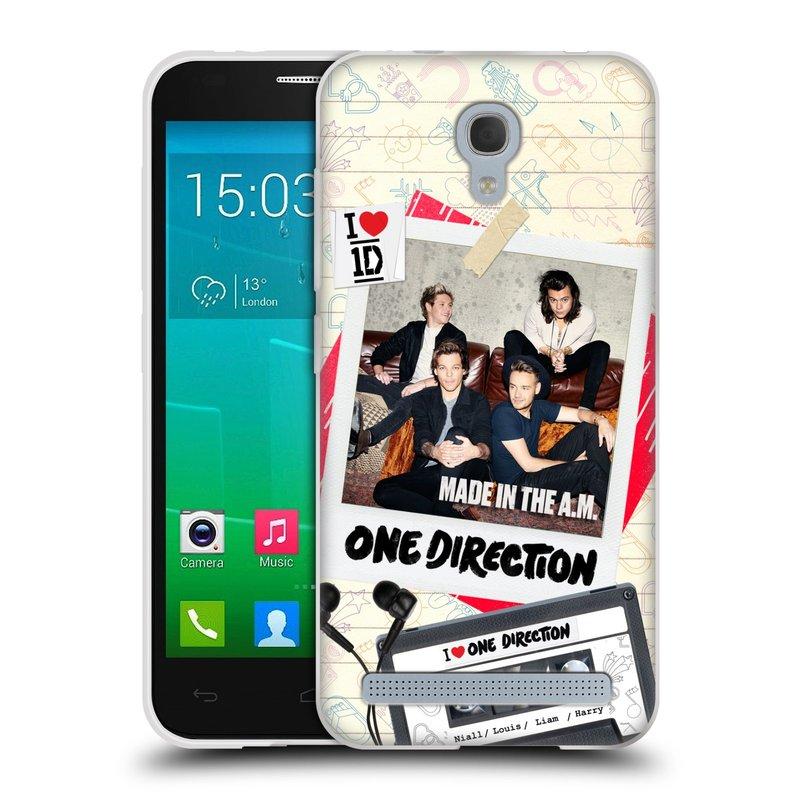 Silikonové pouzdro na mobil Alcatel One Touch Idol 2 Mini S 6036Y HEAD CASE One Direction - Kazeta (Silikonový kryt či obal One Direction Official na mobilní telefon Alcatel Idol 2 Mini S OT-6036Y)