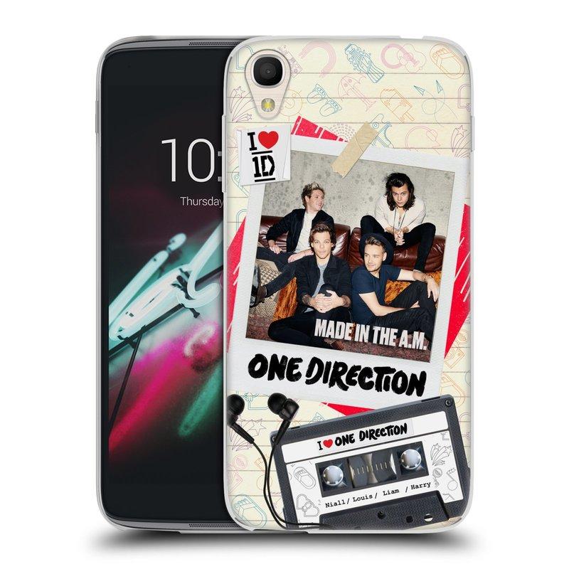 """Silikonové pouzdro na mobil Alcatel One Touch 6039Y Idol 3 HEAD CASE One Direction - Kazeta (Silikonový kryt či obal One Direction Official na mobilní telefon Alcatel One Touch Idol 3 OT-6039Y s 4,7"""" displejem)"""