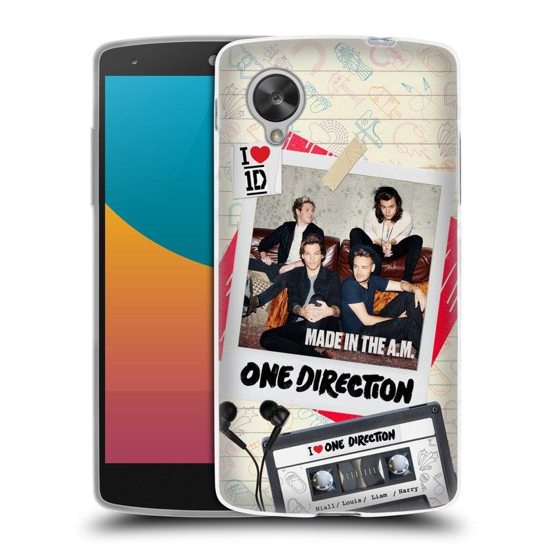 Silikonové pouzdro na mobil LG Nexus 5 HEAD CASE One Direction - Kazeta (Silikonový kryt či obal One Direction Official na mobilní telefon LG Google Nexus 5 D821)