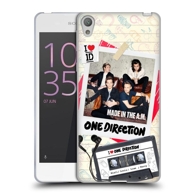 Silikonové pouzdro na mobil Sony Xperia E5 HEAD CASE One Direction - Kazeta (Silikonový kryt či obal One Direction Official na mobilní telefon Sony Xperia E5 F3311)