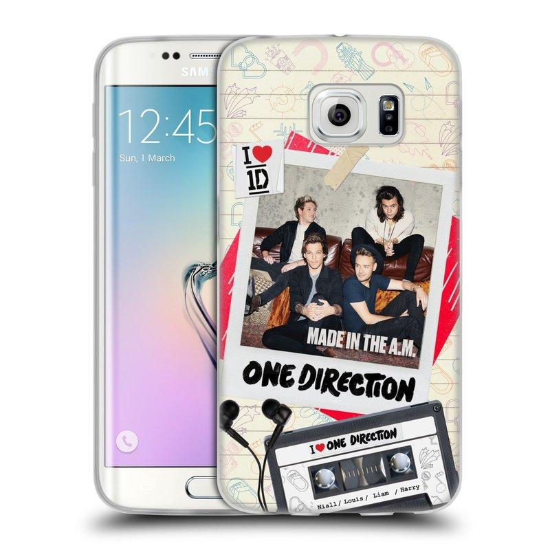 Silikonové pouzdro na mobil Samsung Galaxy S6 Edge HEAD CASE One Direction - Kazeta (Silikonový kryt či obal One Direction Official na mobilní telefon Samsung Galaxy S6 Edge SM-G925F)