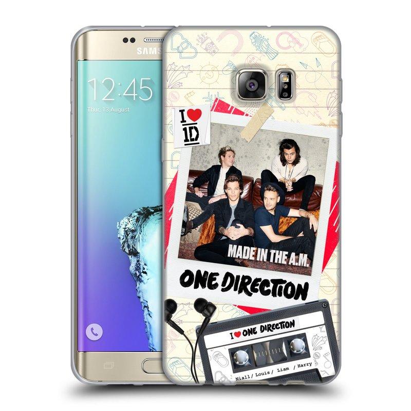 Silikonové pouzdro na mobil Samsung Galaxy S6 Edge Plus HEAD CASE One Direction - Kazeta (Silikonový kryt či obal One Direction Official na mobilní telefon Samsung Galaxy S6 Edge Plus SM-G928F)