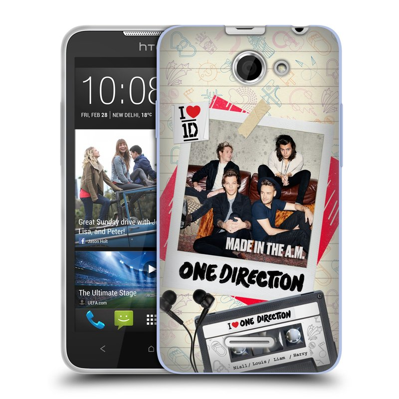 Silikonové pouzdro na mobil HTC Desire 516 HEAD CASE One Direction - Kazeta (Silikonový kryt či obal One Direction Official na mobilní telefon HTC Desire 516 Dual SIM)