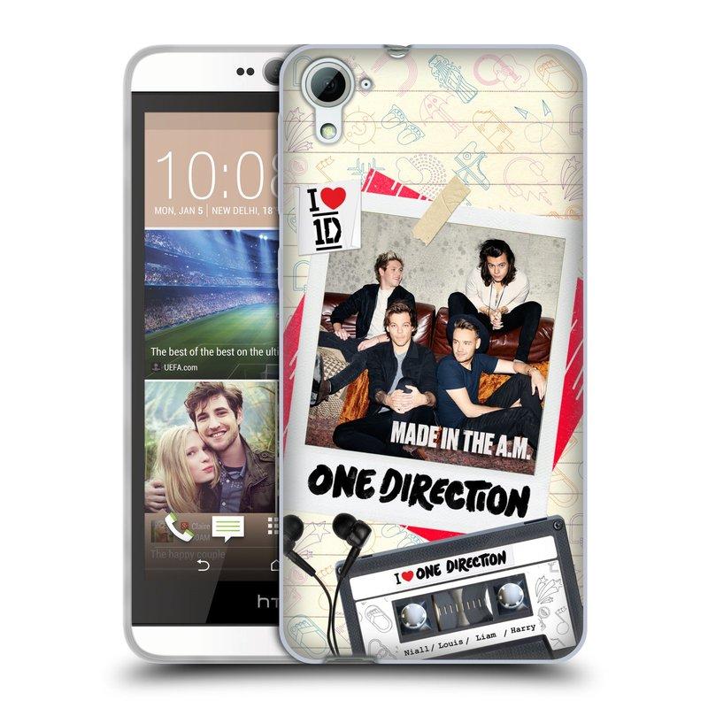 Silikonové pouzdro na mobil HTC Desire 826 HEAD CASE One Direction - Kazeta (Silikonový kryt či obal One Direction Official na mobilní telefon HTC Desire 826 Dual SIM)