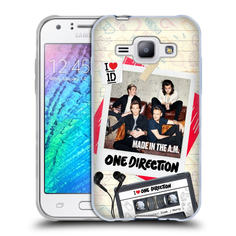Silikonové pouzdro na mobil Samsung Galaxy J1 HEAD CASE One Direction - Kazeta (Silikonový kryt či obal One Direction Official na mobilní telefon Samsung Galaxy J1 a J1 Duos)