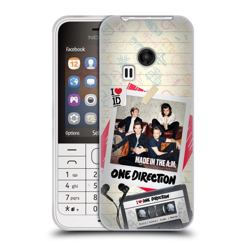 Silikonové pouzdro na mobil Nokia 220 HEAD CASE One Direction - Kazeta (Silikonový kryt či obal One Direction Official na mobilní telefon Nokia 220 a 220 Dual SIM)