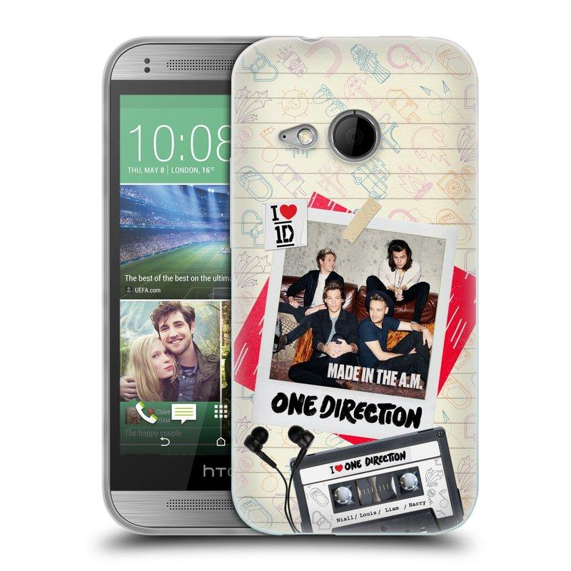 Silikonové pouzdro na mobil HTC ONE Mini 2 HEAD CASE One Direction - Kazeta (Silikonový kryt či obal One Direction Official na mobilní telefon HTC ONE Mini 2)