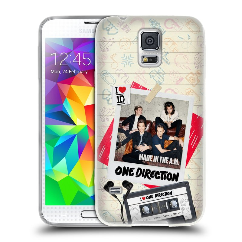 Silikonové pouzdro na mobil Samsung Galaxy S5 HEAD CASE One Direction - Kazeta (Silikonový kryt či obal One Direction Official na mobilní telefon Samsung Galaxy S5 SM-G900F)