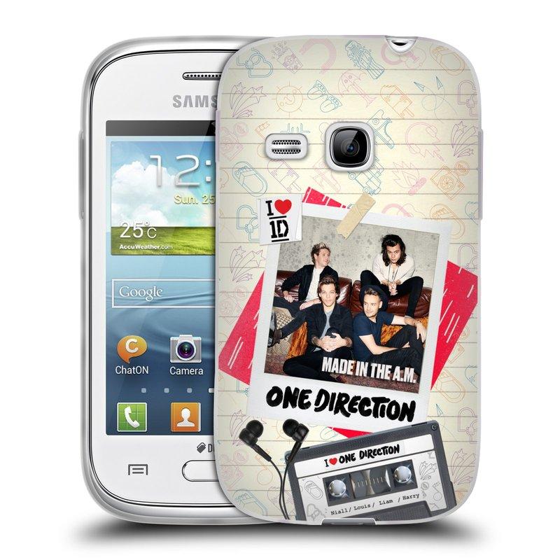 Silikonové pouzdro na mobil Samsung Galaxy Young HEAD CASE One Direction - Kazeta (Silikonový kryt či obal One Direction Official na mobilní telefon Samsung Galaxy Young GT-S6310)
