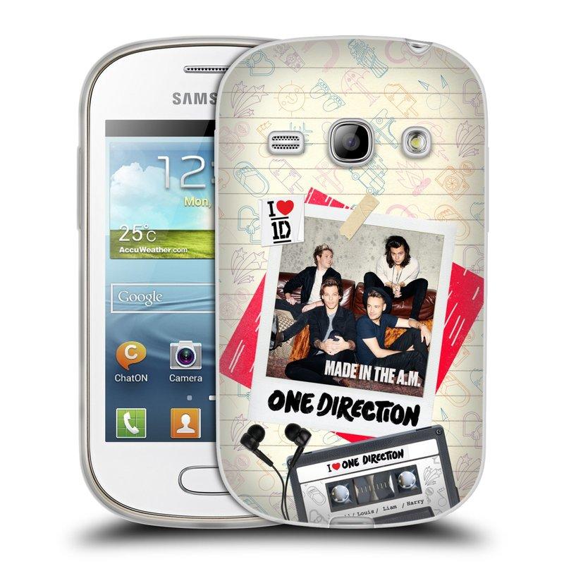 Silikonové pouzdro na mobil Samsung Galaxy Fame HEAD CASE One Direction - Kazeta (Silikonový kryt či obal One Direction Official na mobilní telefon Samsung Galaxy Fame GT-S6810)