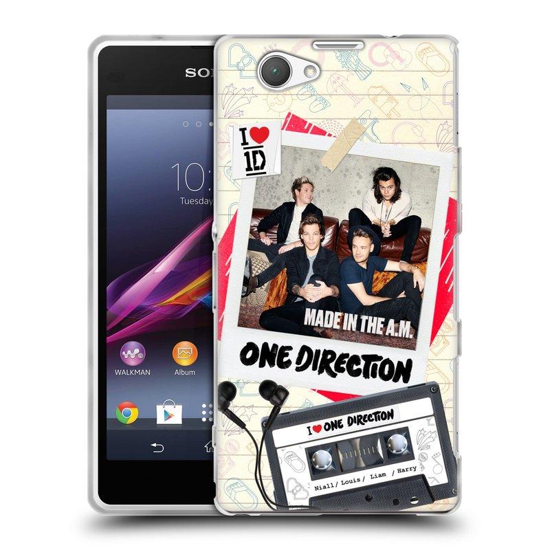 Silikonové pouzdro na mobil Sony Xperia Z1 Compact D5503 HEAD CASE One Direction - Kazeta (Silikonový kryt či obal One Direction Official na mobilní telefon Sony Xperia Z1 Compact)
