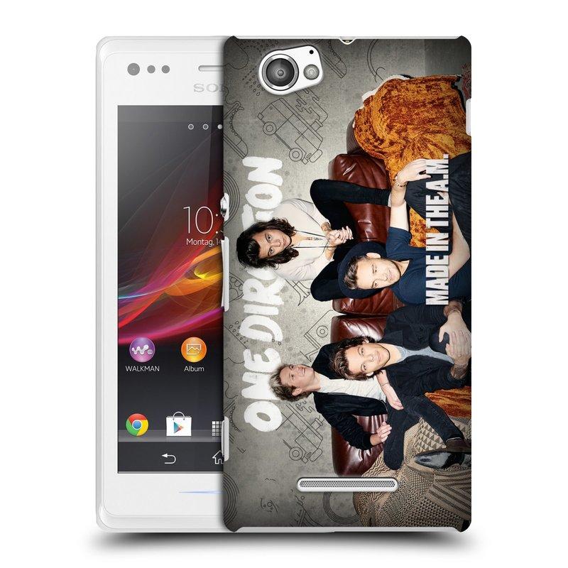 Plastové pouzdro na mobil Sony Xperia M C1905 HEAD CASE One Direction - Na Gaučíku (Kryt či obal One Direction Official na mobilní telefon Sony Xperia M )
