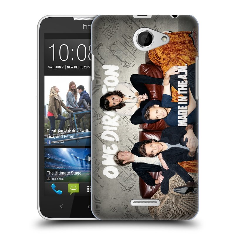 Plastové pouzdro na mobil HTC Desire 516 HEAD CASE One Direction - Na Gaučíku (Kryt či obal One Direction Official na mobilní telefon HTC Desire 516 Dual SIM)