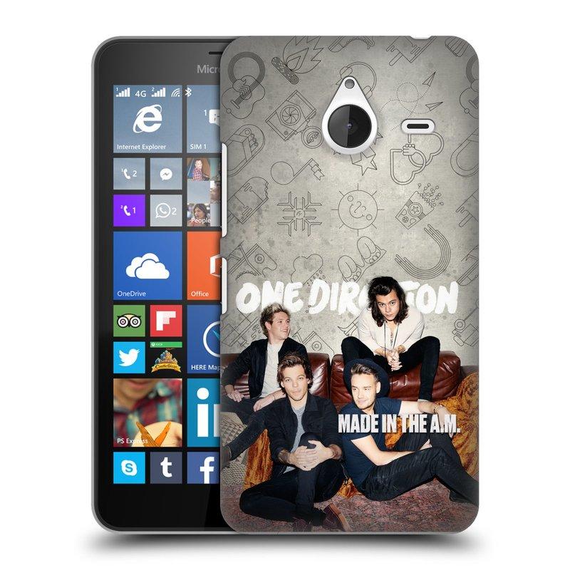 Plastové pouzdro na mobil Microsoft Lumia 640 XL HEAD CASE One Direction - Na Gaučíku (Kryt či obal One Direction Official na mobilní telefon Microsoft Lumia 640 XL)
