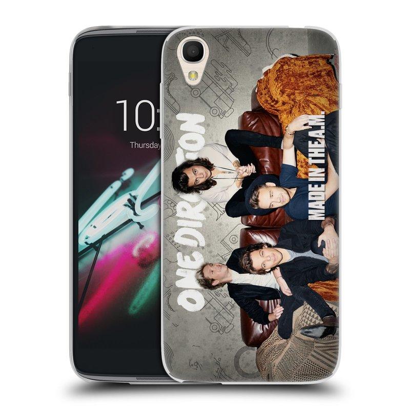 "Silikonové pouzdro na mobil Alcatel One Touch 6039Y Idol 3 HEAD CASE One Direction - Na Gaučíku (Silikonový kryt či obal One Direction Official na mobilní telefon Alcatel One Touch Idol 3 OT-6039Y s 4,7"" displejem)"