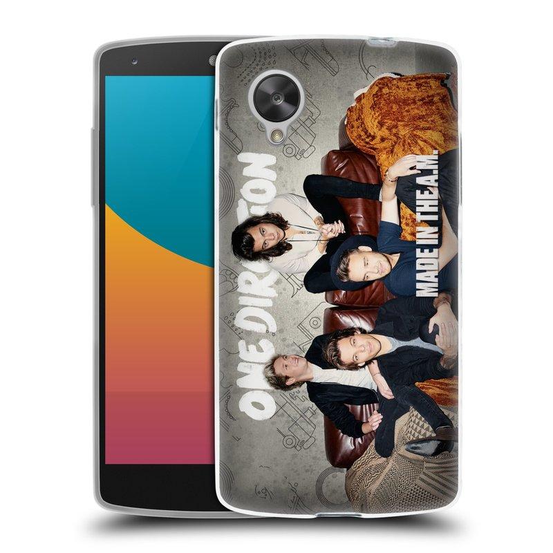 Silikonové pouzdro na mobil LG Nexus 5 HEAD CASE One Direction - Na Gaučíku (Silikonový kryt či obal One Direction Official na mobilní telefon LG Google Nexus 5 D821)