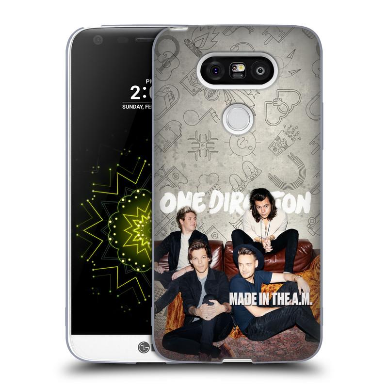 Silikonové pouzdro na mobil LG G5 HEAD CASE One Direction - Na Gaučíku (Silikonový kryt či obal One Direction Official na mobilní telefon LG G5 H850)