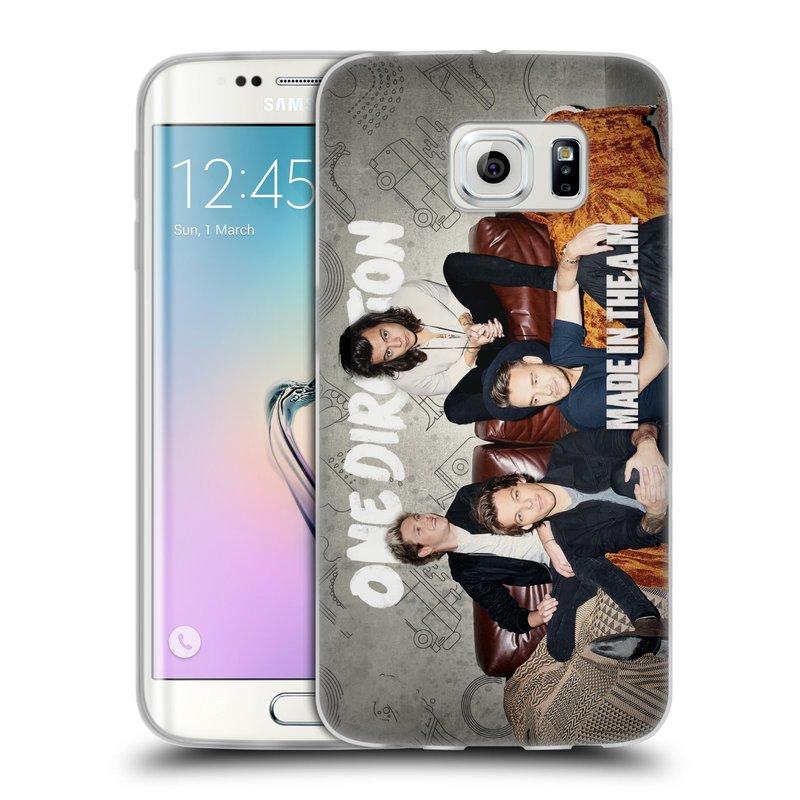 Silikonové pouzdro na mobil Samsung Galaxy S6 Edge HEAD CASE One Direction - Na Gaučíku (Silikonový kryt či obal One Direction Official na mobilní telefon Samsung Galaxy S6 Edge SM-G925F)
