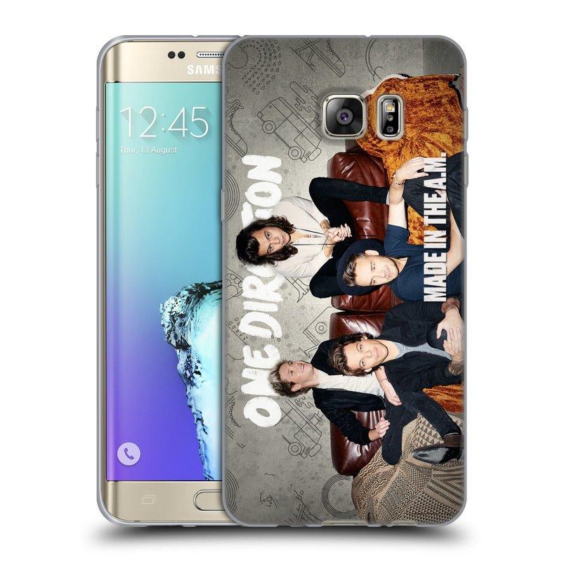 Silikonové pouzdro na mobil Samsung Galaxy S6 Edge Plus HEAD CASE One Direction - Na Gaučíku (Silikonový kryt či obal One Direction Official na mobilní telefon Samsung Galaxy S6 Edge Plus SM-G928F)