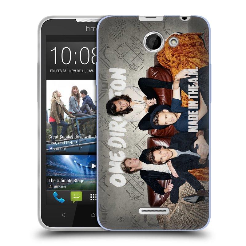 Silikonové pouzdro na mobil HTC Desire 516 HEAD CASE One Direction - Na Gaučíku (Silikonový kryt či obal One Direction Official na mobilní telefon HTC Desire 516 Dual SIM)