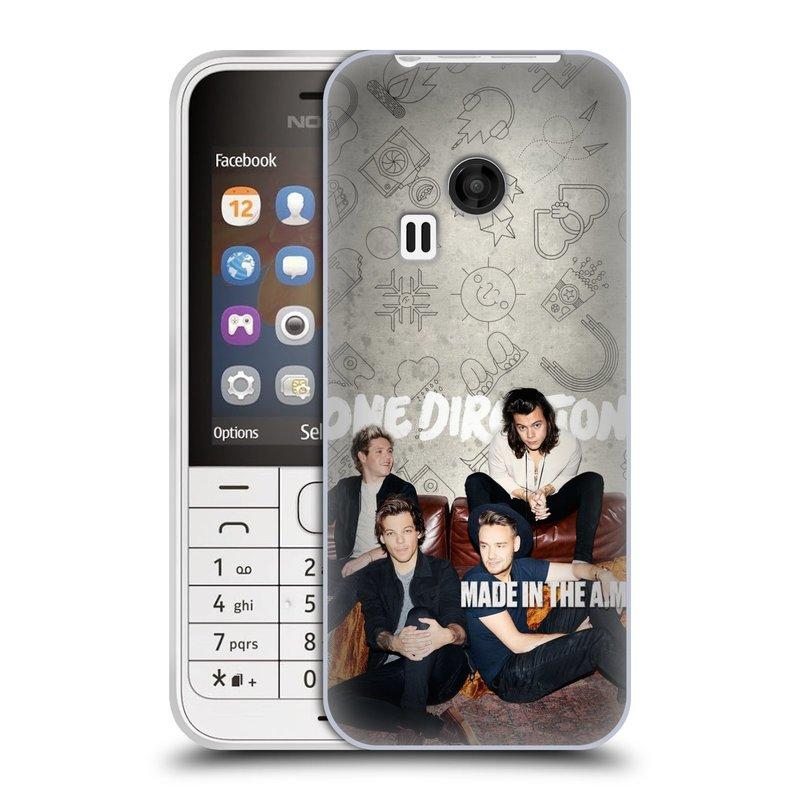 Silikonové pouzdro na mobil Nokia 220 HEAD CASE One Direction - Na Gaučíku (Silikonový kryt či obal One Direction Official na mobilní telefon Nokia 220 a 220 Dual SIM)