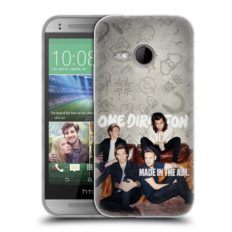 Silikonové pouzdro na mobil HTC ONE Mini 2 HEAD CASE One Direction - Na Gaučíku (Silikonový kryt či obal One Direction Official na mobilní telefon HTC ONE Mini 2)