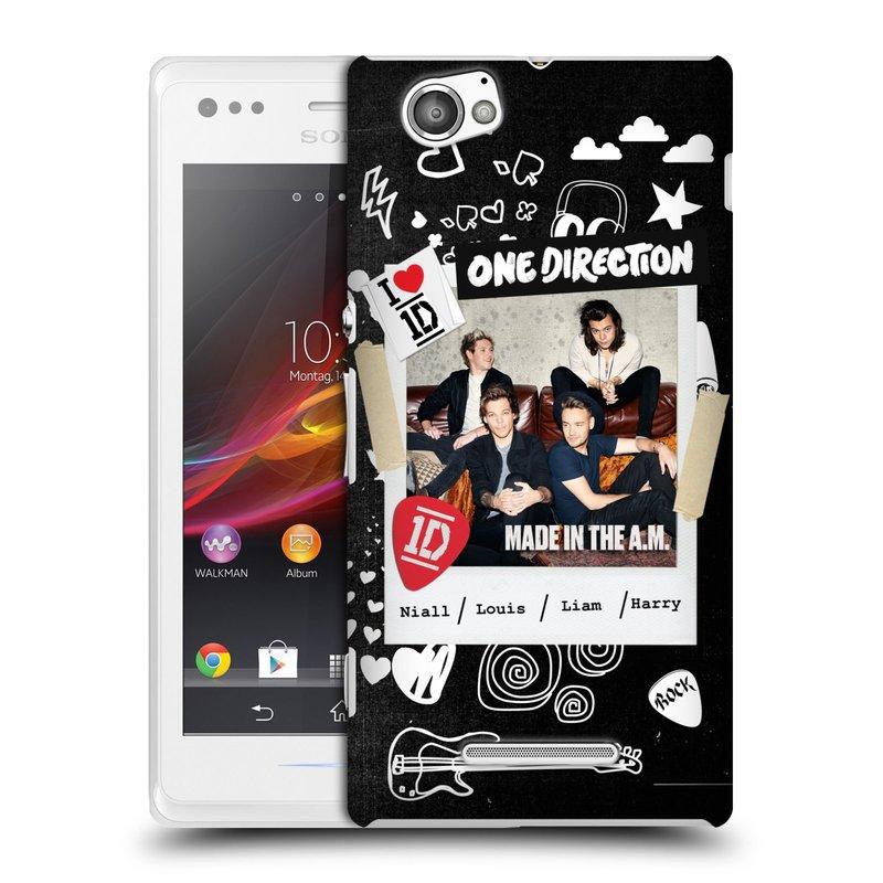 Plastové pouzdro na mobil Sony Xperia M C1905 HEAD CASE One Direction - S kytárou (Kryt či obal One Direction Official na mobilní telefon Sony Xperia M )