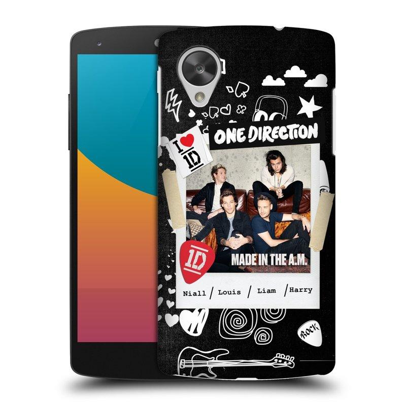 Plastové pouzdro na mobil LG Nexus 5 HEAD CASE One Direction - S kytárou (Kryt či obal One Direction Official na mobilní telefon LG Google Nexus 5 D821)
