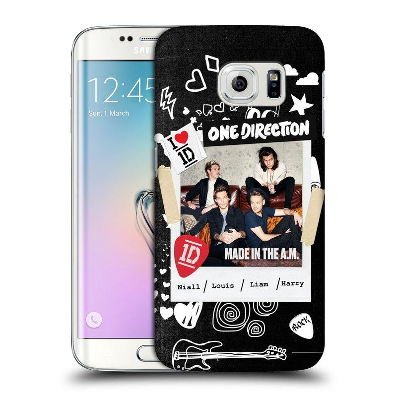Plastové pouzdro na mobil Samsung Galaxy S6 Edge HEAD CASE One Direction - S kytárou (Kryt či obal One Direction Official na mobilní telefon Samsung Galaxy S6 Edge SM-G925F)