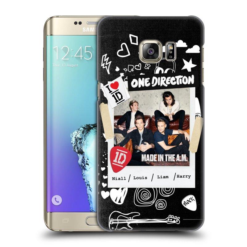 Plastové pouzdro na mobil Samsung Galaxy S6 Edge Plus HEAD CASE One Direction - S kytárou (Kryt či obal One Direction Official na mobilní telefon Samsung Galaxy S6 Edge Plus SM-G928F)