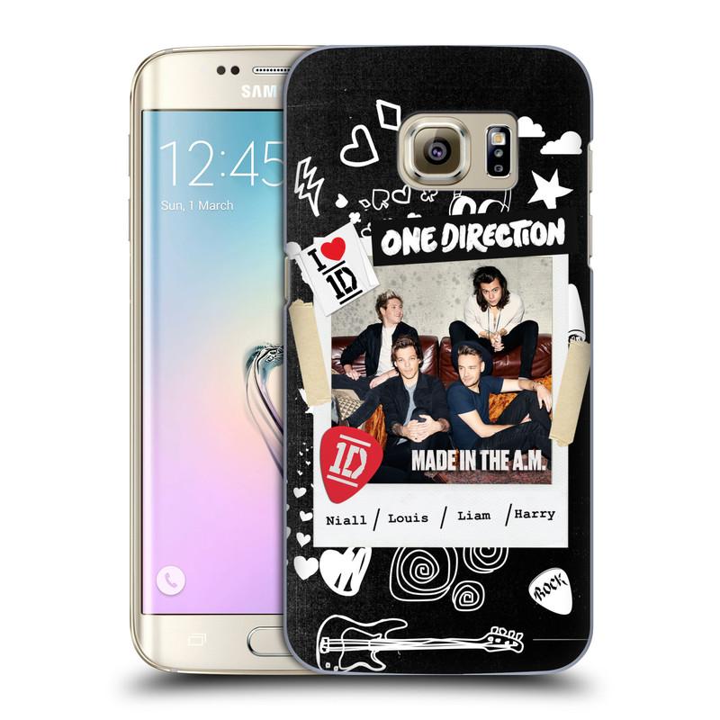 Plastové pouzdro na mobil Samsung Galaxy S7 Edge HEAD CASE One Direction - S kytárou (Kryt či obal One Direction Official na mobilní telefon Samsung Galaxy S7 Edge SM-G935F)