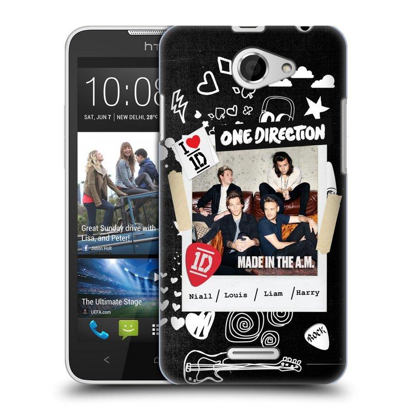 Plastové pouzdro na mobil HTC Desire 516 HEAD CASE One Direction - S kytárou (Kryt či obal One Direction Official na mobilní telefon HTC Desire 516 Dual SIM)
